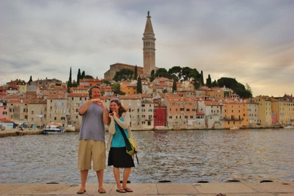 We are just two love-struck fools for Rovinj, Croatia
