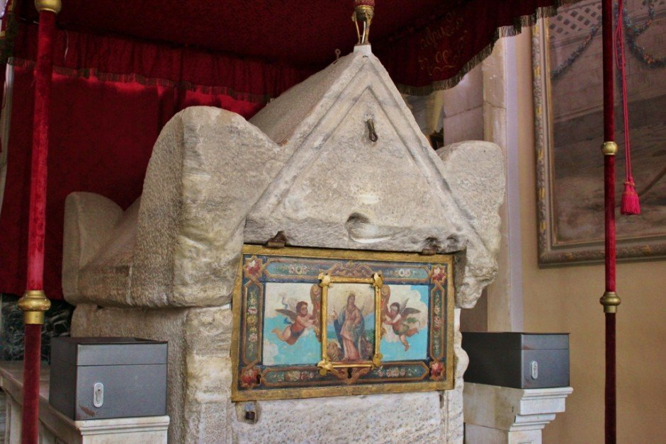 St. Euphemia's tomb resides in a side altar at the church in Rovinj Croatia