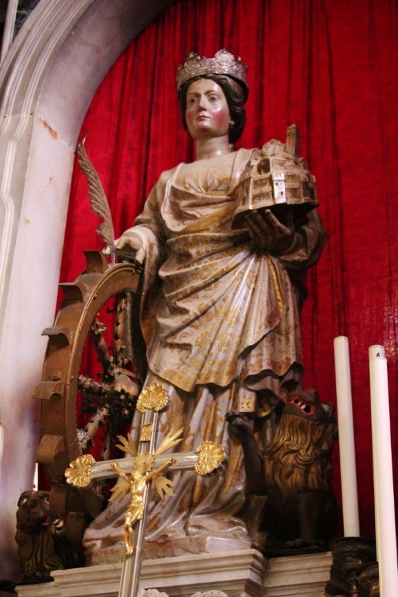 A statue of St. Euphemia in the church that bears her name in Rovinj, Croatia