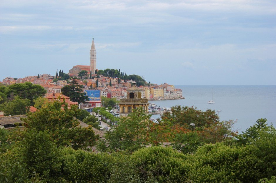 Views of Rovinj Croatia while wine tasting at Villa Dobravac