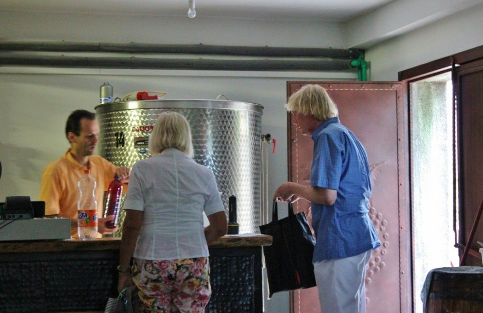 Vivoda Winery in Rovinj Croatia sells liters of wine at inexpensive prices