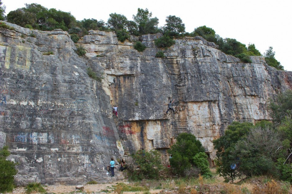 Rock climbers can be spotted while on the hiking and biking trails in Rovinj Croatia