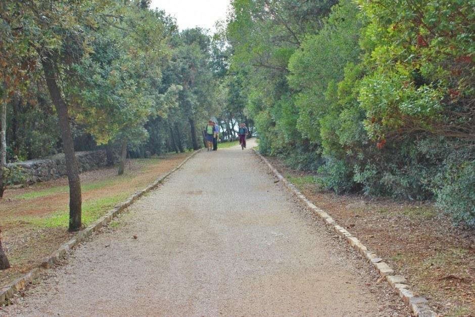 One of the hiking and biking trails in Rovinj Croatia