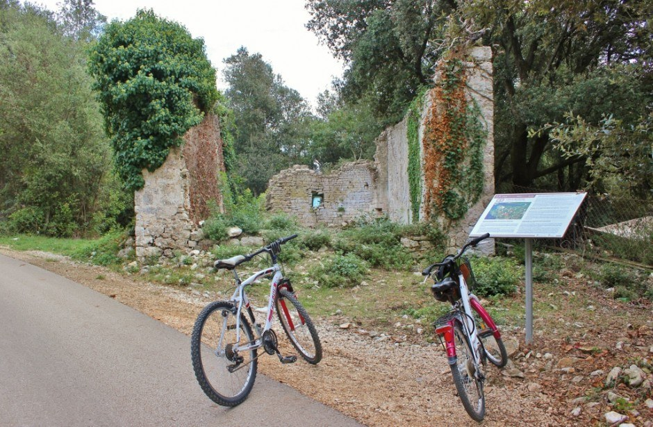 We passed by church ruins while on the hiking and biking trails in Rovinj Croatia