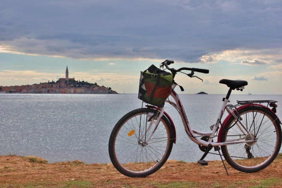 Old Town viewpoints while on the hiking and biking trails in Rovinj Croatia