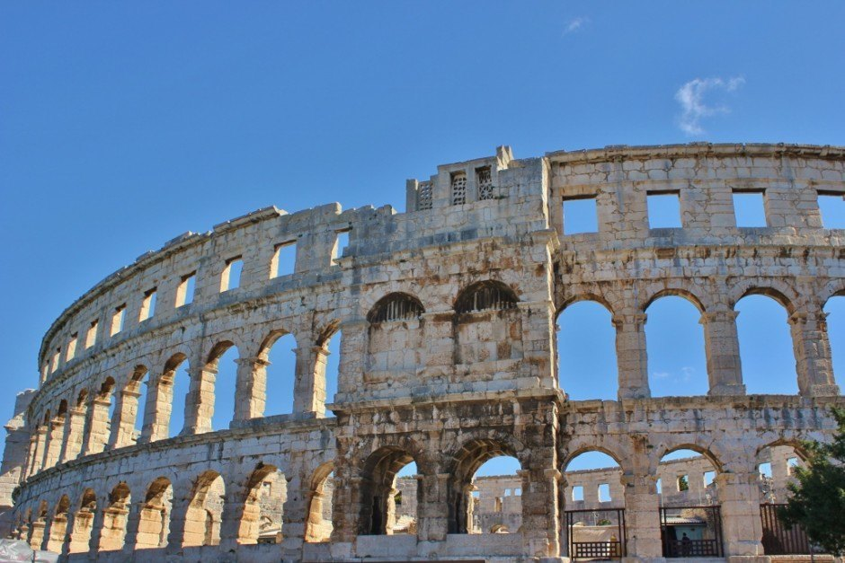 The Roman Amphitheater in Pula, Croatia