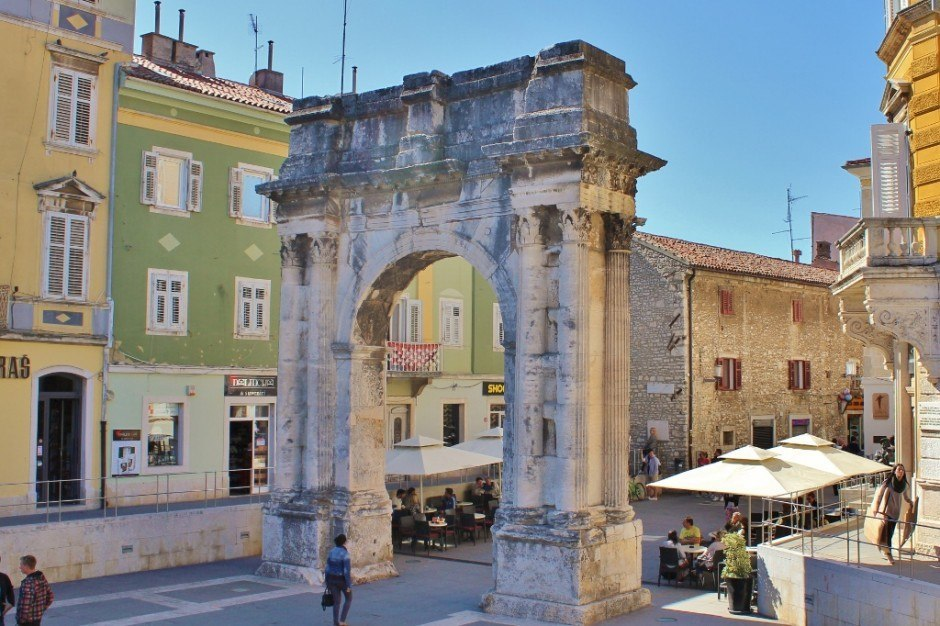 The Arch of Sergii in Pula, Croatia