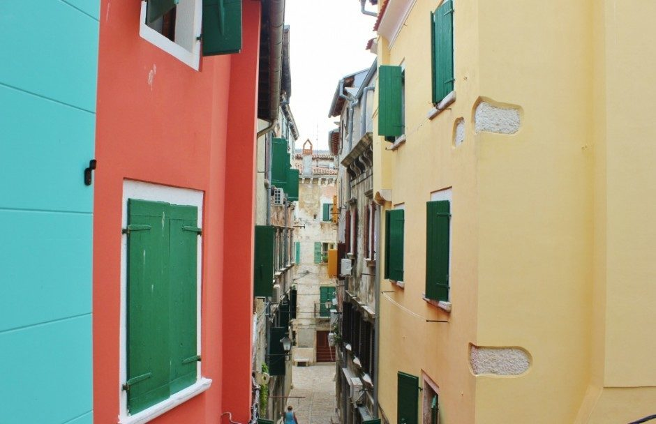 From our bedroom window in Rovinj, we had a bird's eye view of the street below and loved watching the shop owners, locals and tour groups make their way through the streets