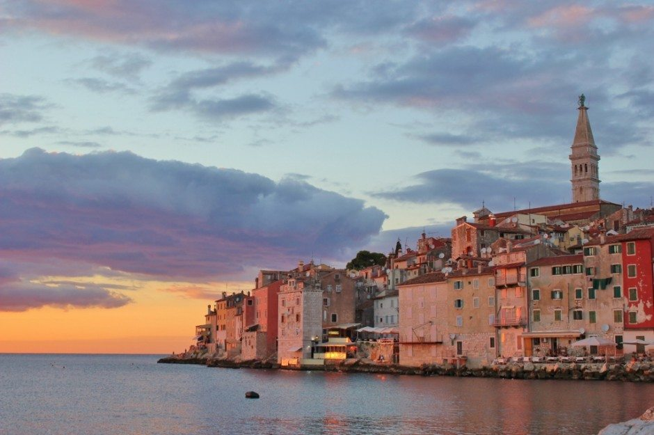 Rovinj croatia at sunset