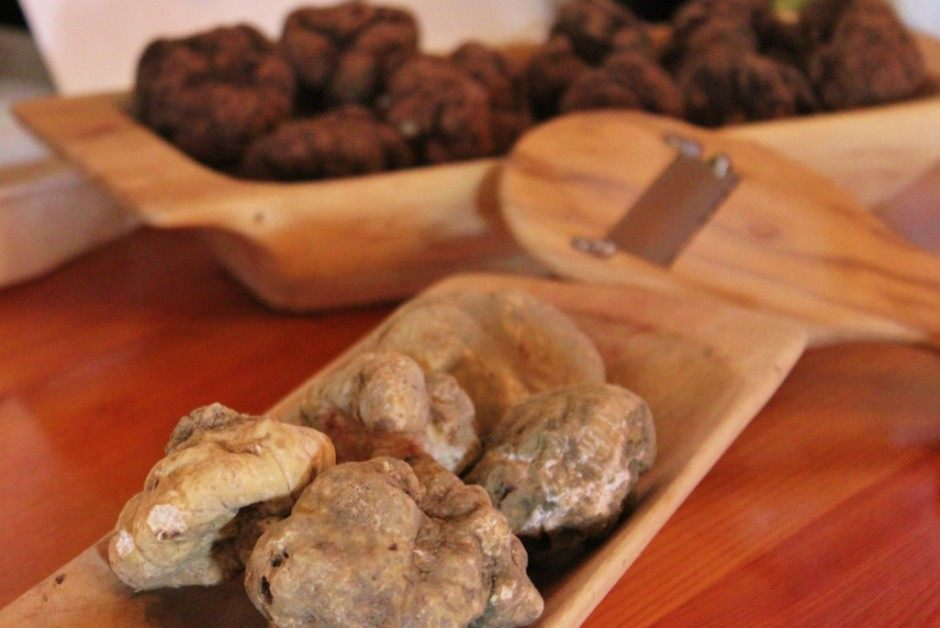 White truffles are favored over black for their more pungent scent