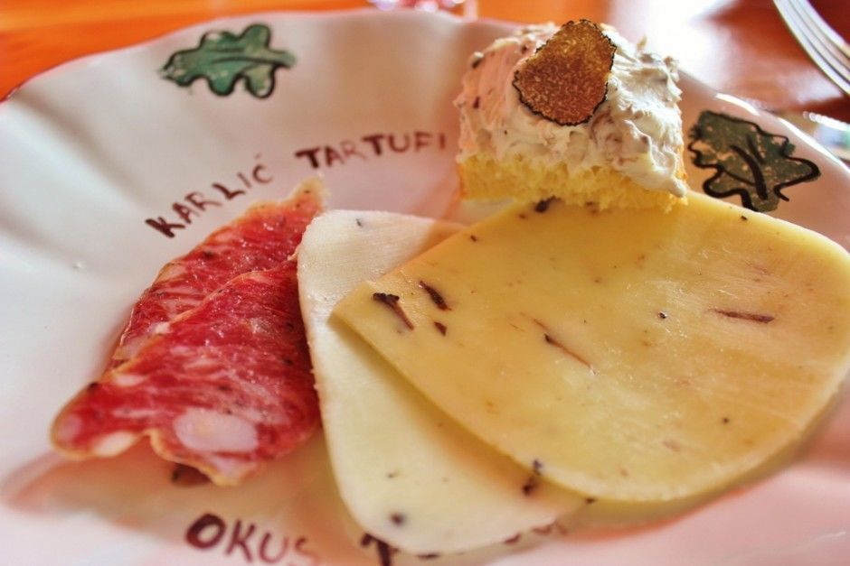 Meat and cheese infused with truffles is another delight at Karlic Tartufi