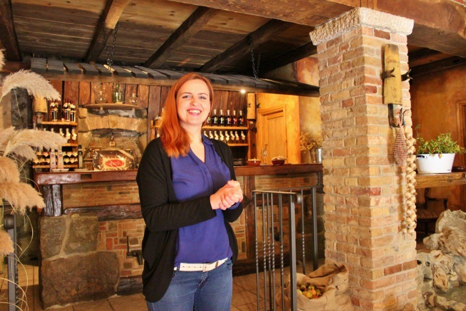 Valentina guided us through the process of making Istrian brandy at Aura Distillery