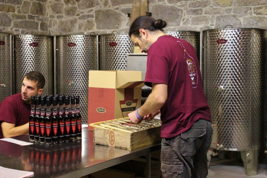 At Aura Distillery, keeping to tradition is important and includes details like no perservatives in their Istrian brandy and hand-labeling every bottle