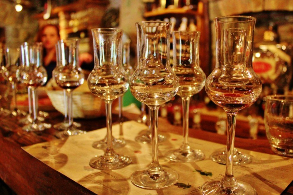 During our sampling of Istrian brandy at Aura Distillery, we lost count of how many we tried!