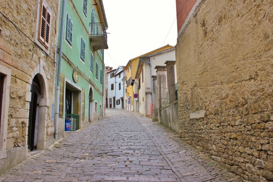The car-free streets of Motovun make it particularly charming