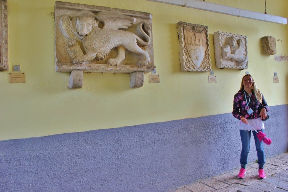 While visiting Motovun, we had a guide to explain the crests