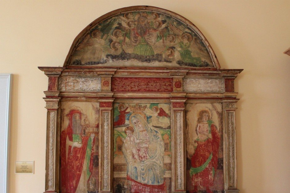 This painting, housed in the Bishop's Palace at the Euphrasian Basilica complex in Porec, was found in the Hum Cemetery and dates to 1529