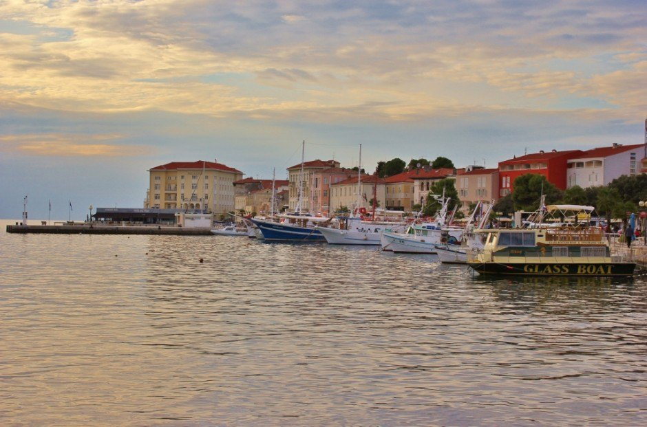 Visiting Porec: waterfront and harbor