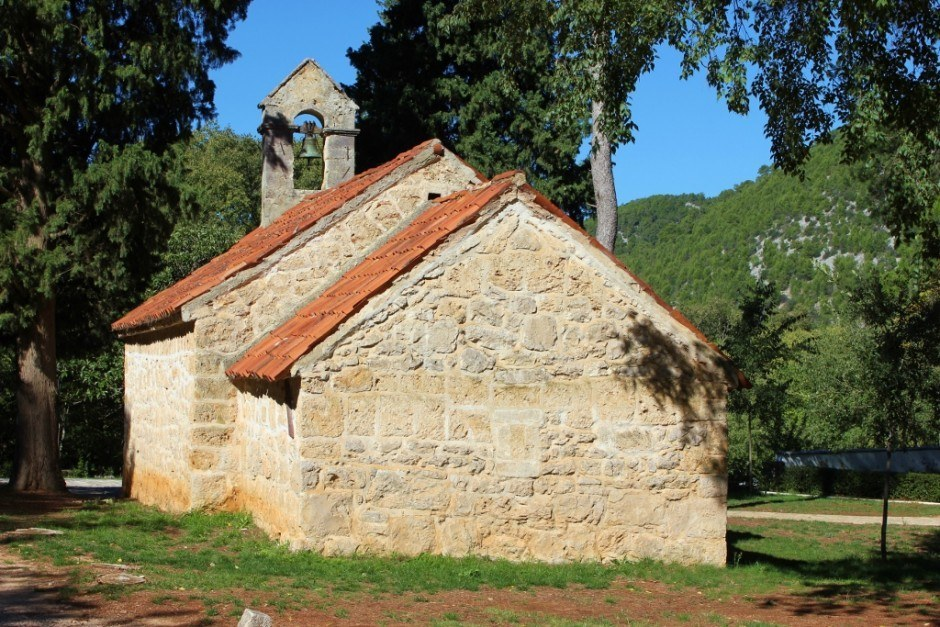 An old church on the gounds of Krka National Park