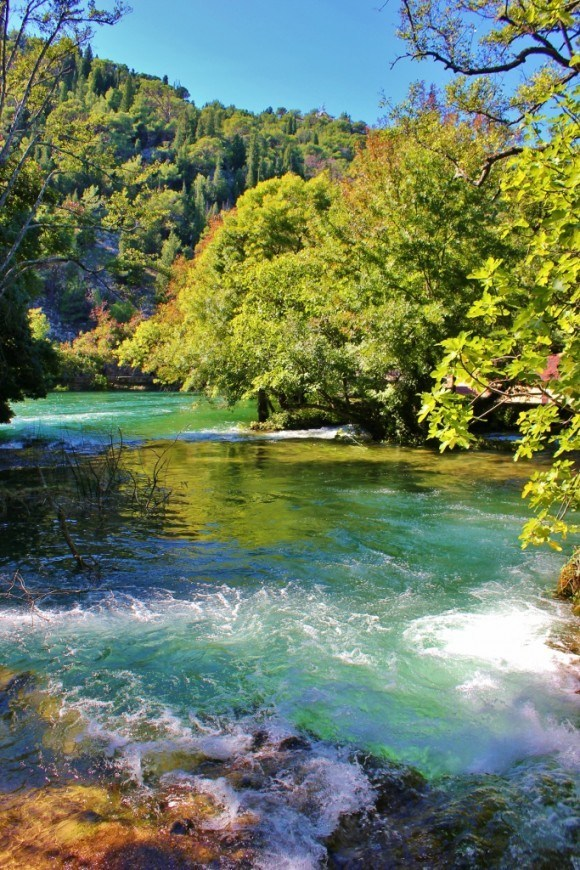 Stunning autumn scenery during our October visit to Krka National Park