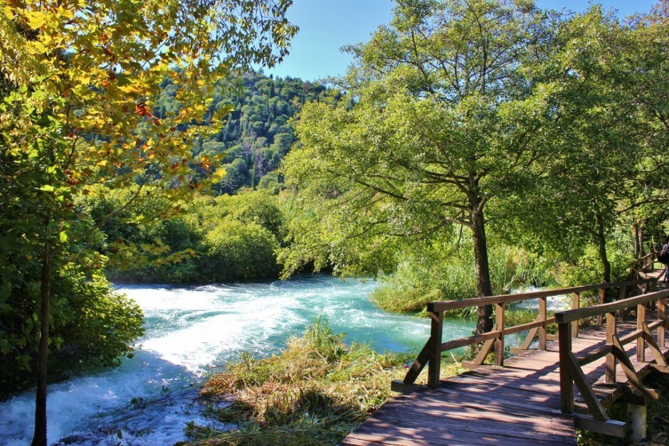 Krka National Park in the autumn