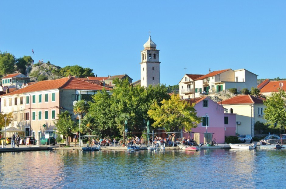 Returning to Skradin, Croatia by ferry from Krka National Park