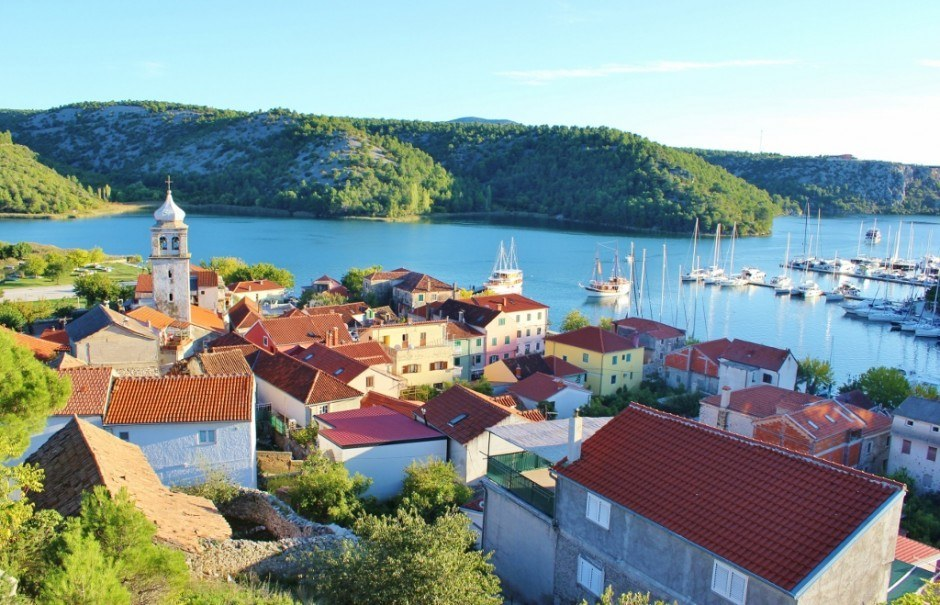 A view over the Skradin, Croatia