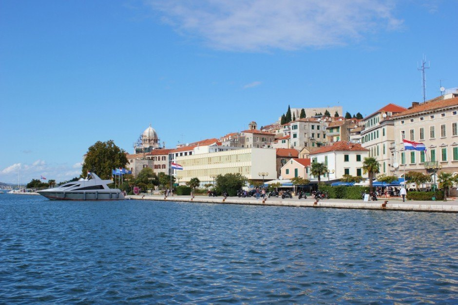 The relaxing waterfront in Sibenik, Croatia