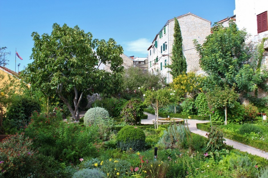 St. Lawrence Medieval Mediterranean Garden in Sibenik, Croatia