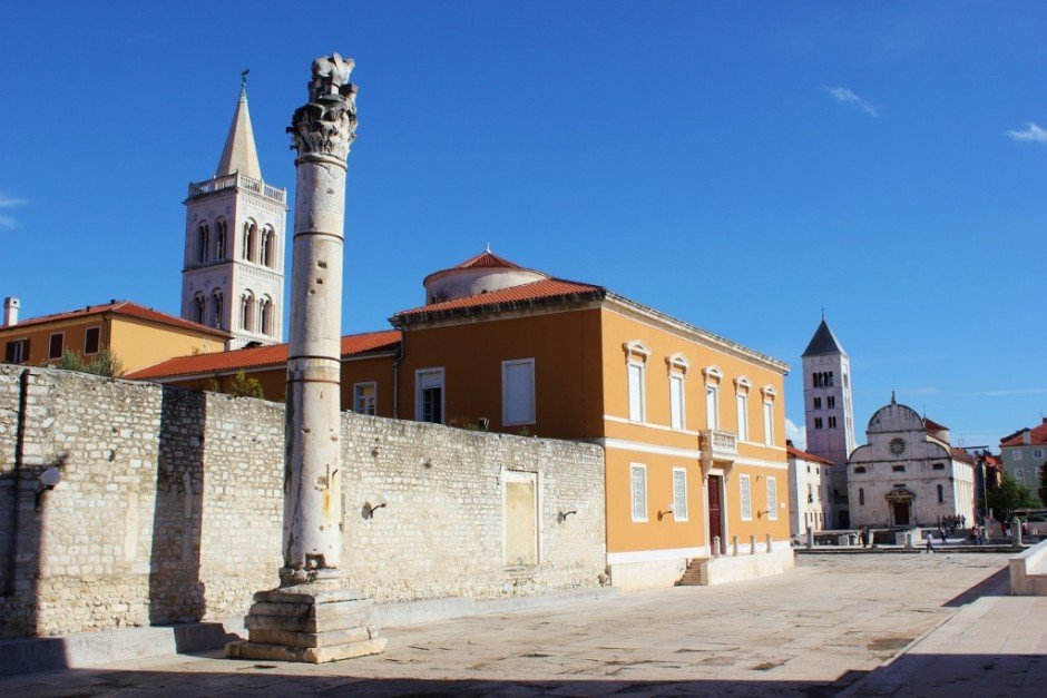 A Pillar of Shame still stands in Zadar, Croatia's Forum, but it's been a long time since it was actually used!