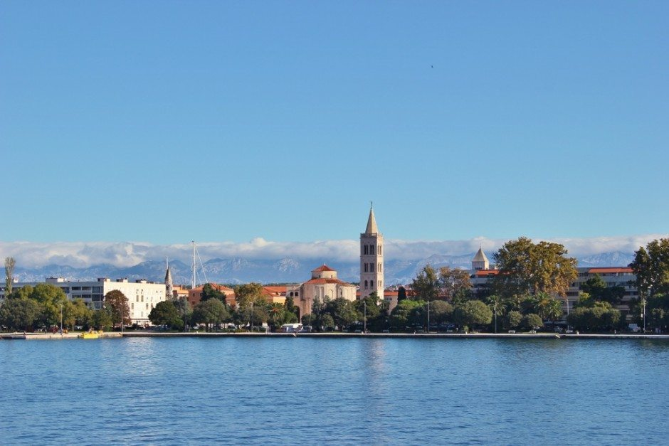 A view of the city during our boat trip from Zadar to Dugi Otok