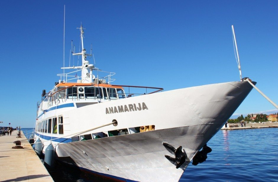 We rode the Anamarija on our boat trip from Zadar to Dugi Otok