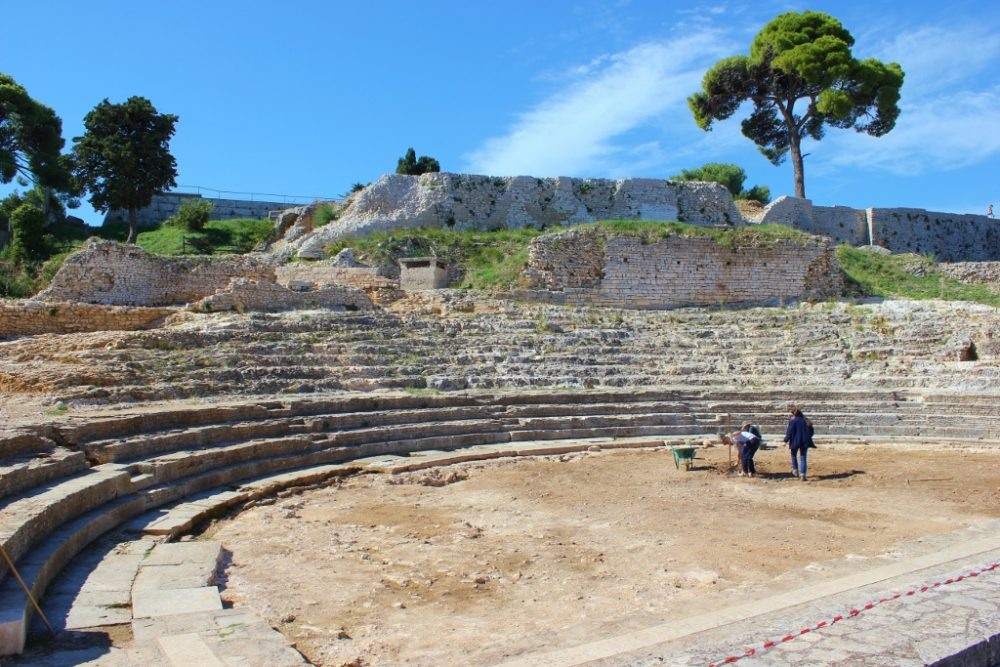 Remains of the Small Roman Theater in Pula, Croatia