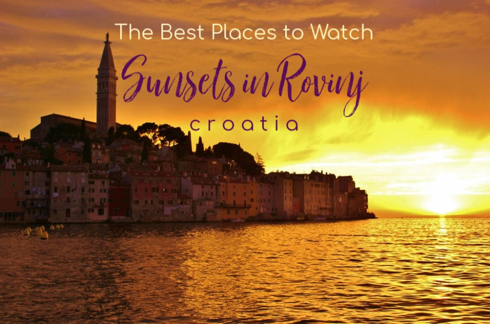 The Best Places to Watch Sunsets in Rovinj, Croatia by JetSettingFools.com