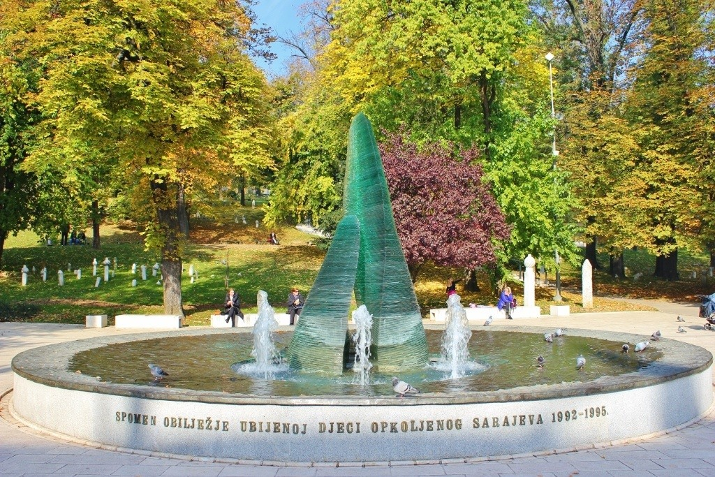 Sarajevo, Bosnia i Herzegovina Memorial to the Children Fountain