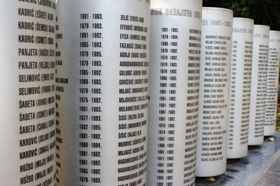 20 years after the Siege of Sarajevo: A memorial names all the children of Sarajevo that were victims to the war