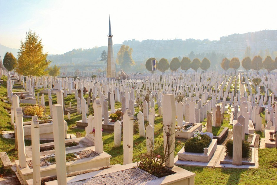20 years after the Siege of Sarajevo graveyards cover the area once dedicated to the 1984 Olympics