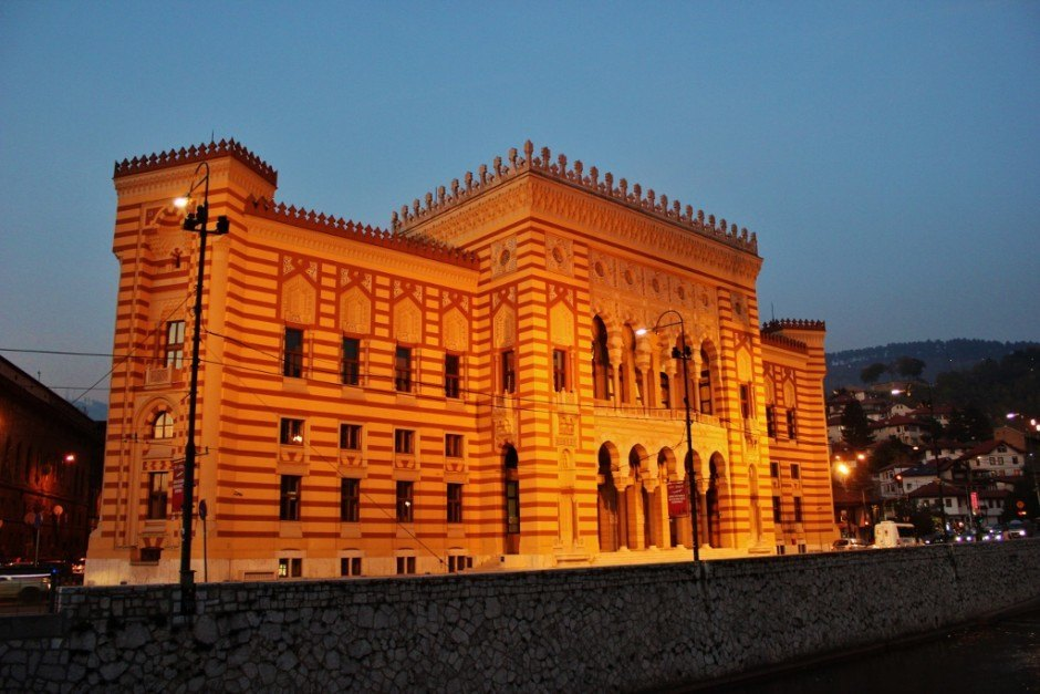 20 years after the Siege of Sarajevo, the city hall and library building that was destroyed in the war was completely rennovated and reopened in 2014