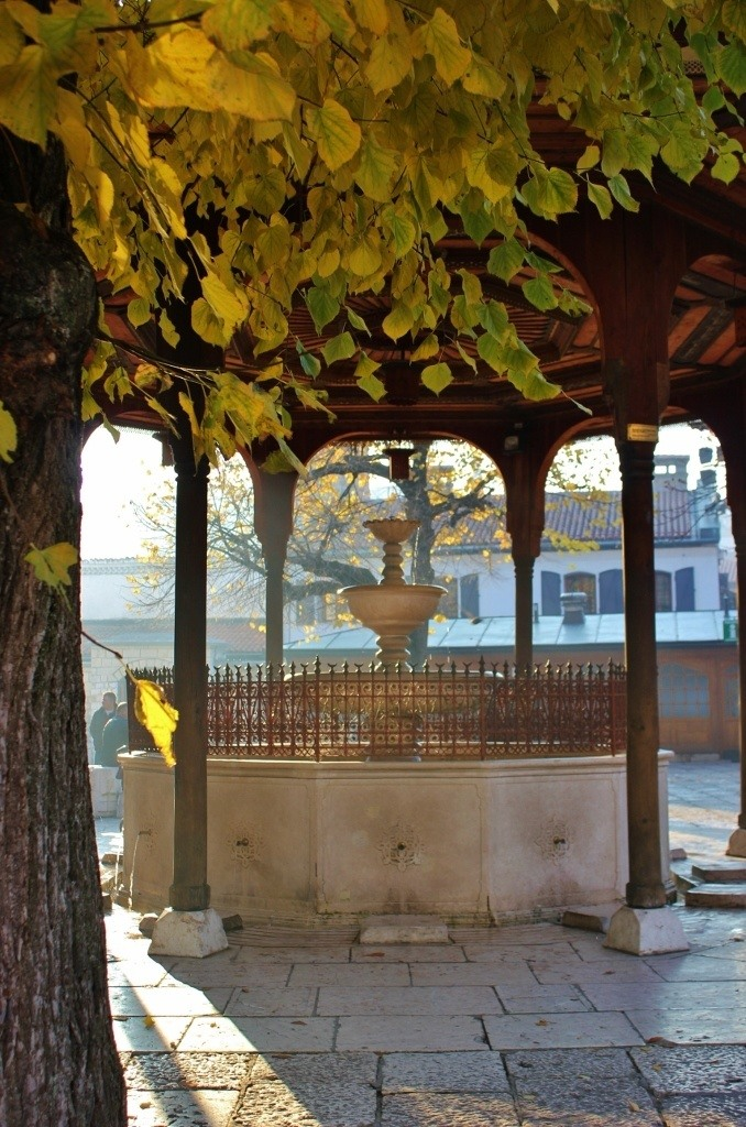 Fountain in Gazi Husrev-Beg Mosque in Sarajevo, BIH