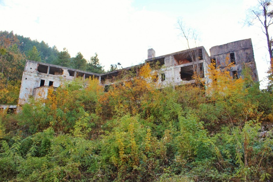 20 years after the Siege of Sarajevo the remains of an abandoned hotel barely stand