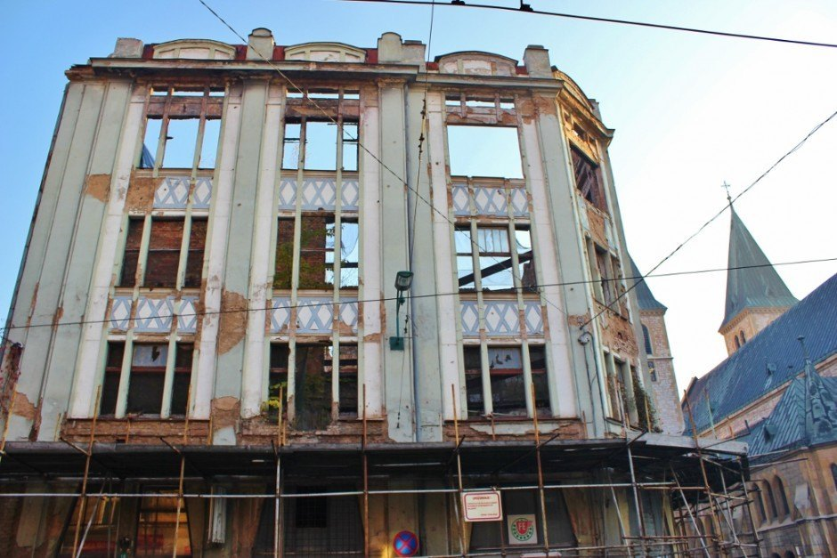 20 years after the Siege of Sarajevo skeletons of buildings remain