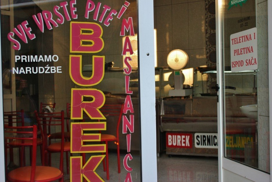 Burek restaurants in Sarajevo, Bosnia and Herzegovina