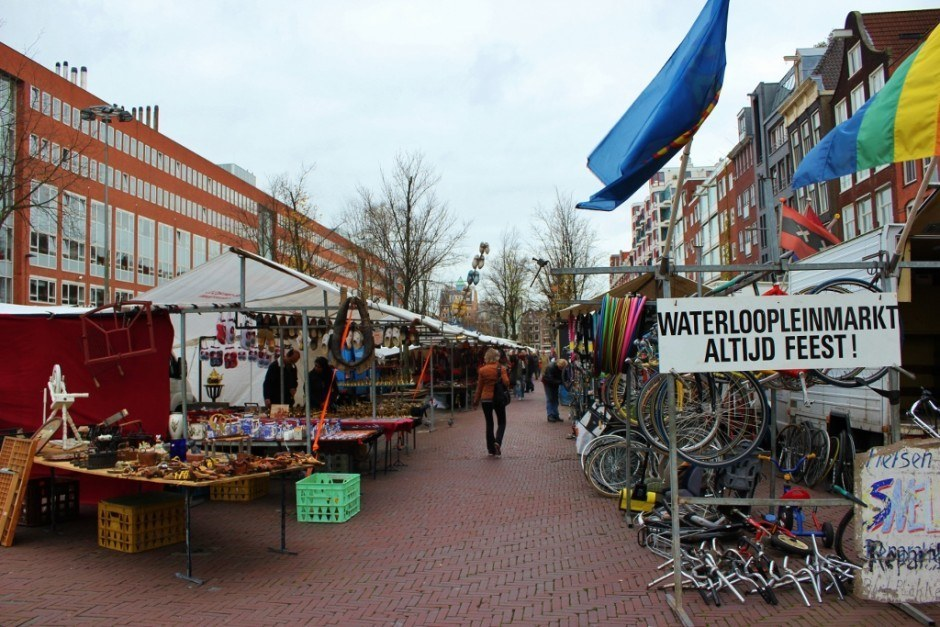 One day in Amsterdam self-guided walking tour - sight 9: Waterlooplein Market