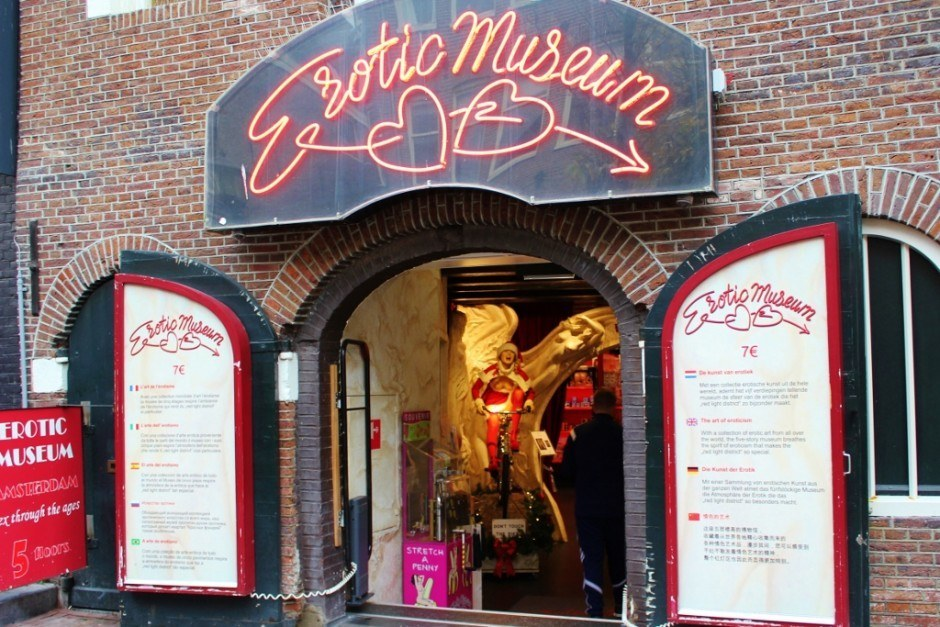 One day in Amsterdam self-guided walking tour - sight 6: The Erotic Museum in the Red Light District