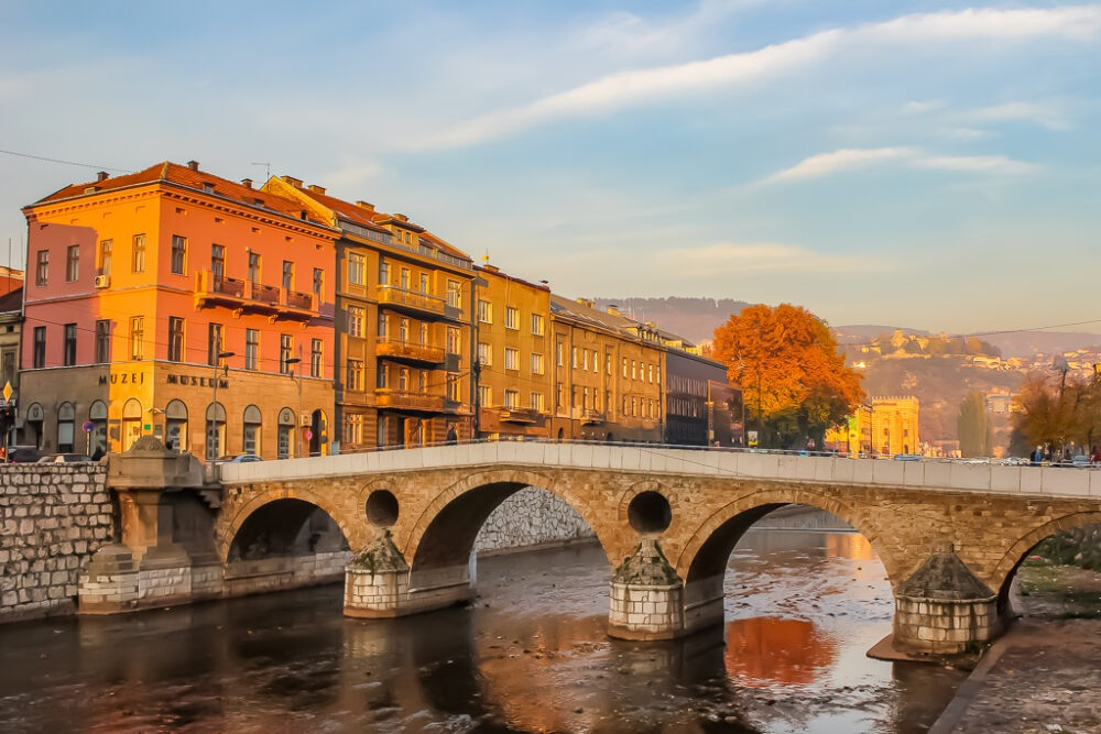 Famous Latin Bridge in Sarajevo, BIH