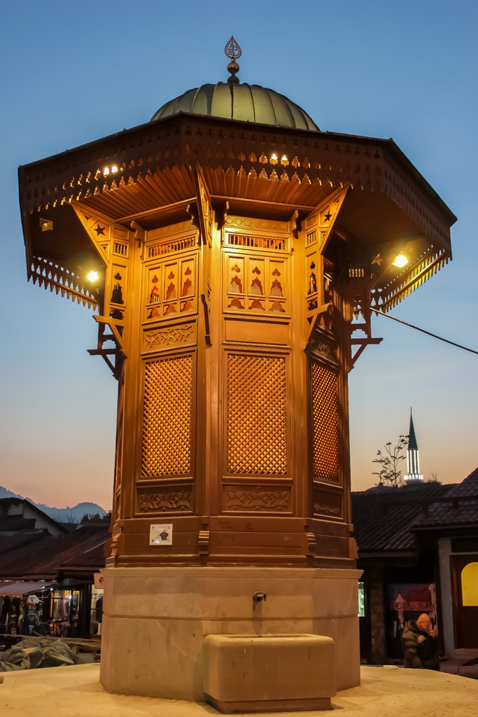 Sebilj Fountain in Sarajevo, Bosnia and Herzegovina