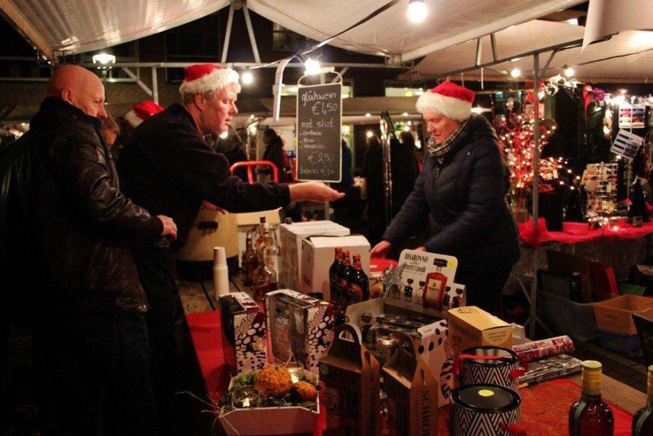 Christmas Markets near Nijmegen Netherlands Beek Kerstmarkt gluhwein booth