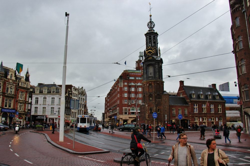 Intersection at Muntplein and Munt Tower in Amsterdam, The Netherlands JetSettingFools.com