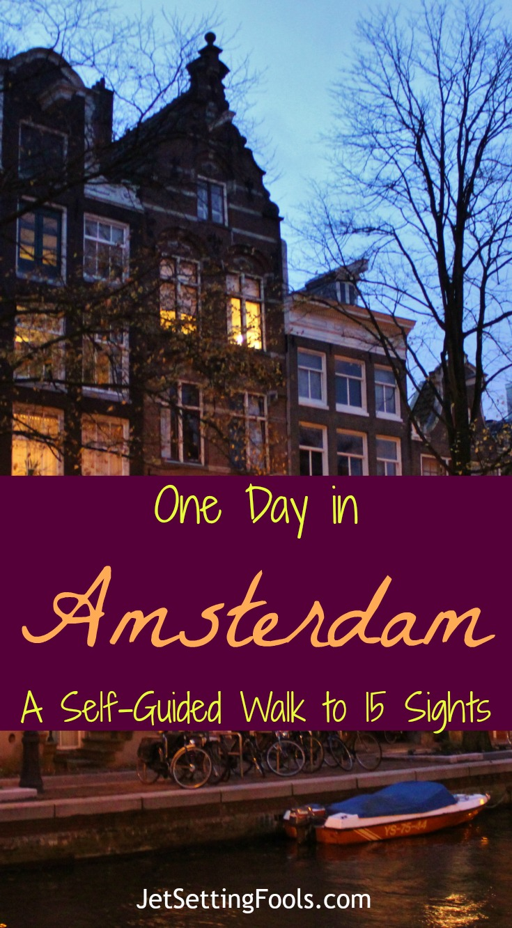 One Day in Amsterdam Self-Guided Walk to 15 Sights by JetSetting Fools