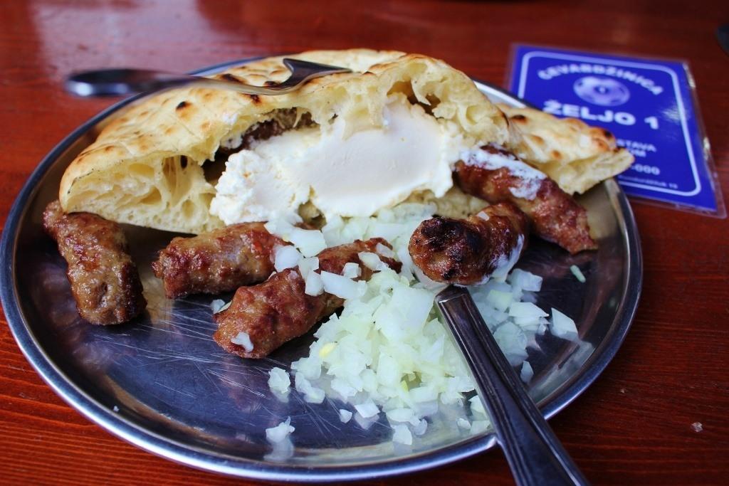Budget meals of Cevapi in Sarajevo, Bosnia-Herzigovina